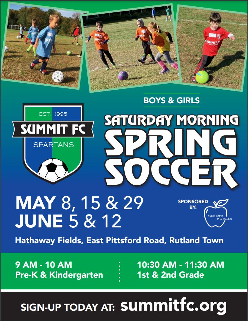 outdoor soccer 2021 spring flyer